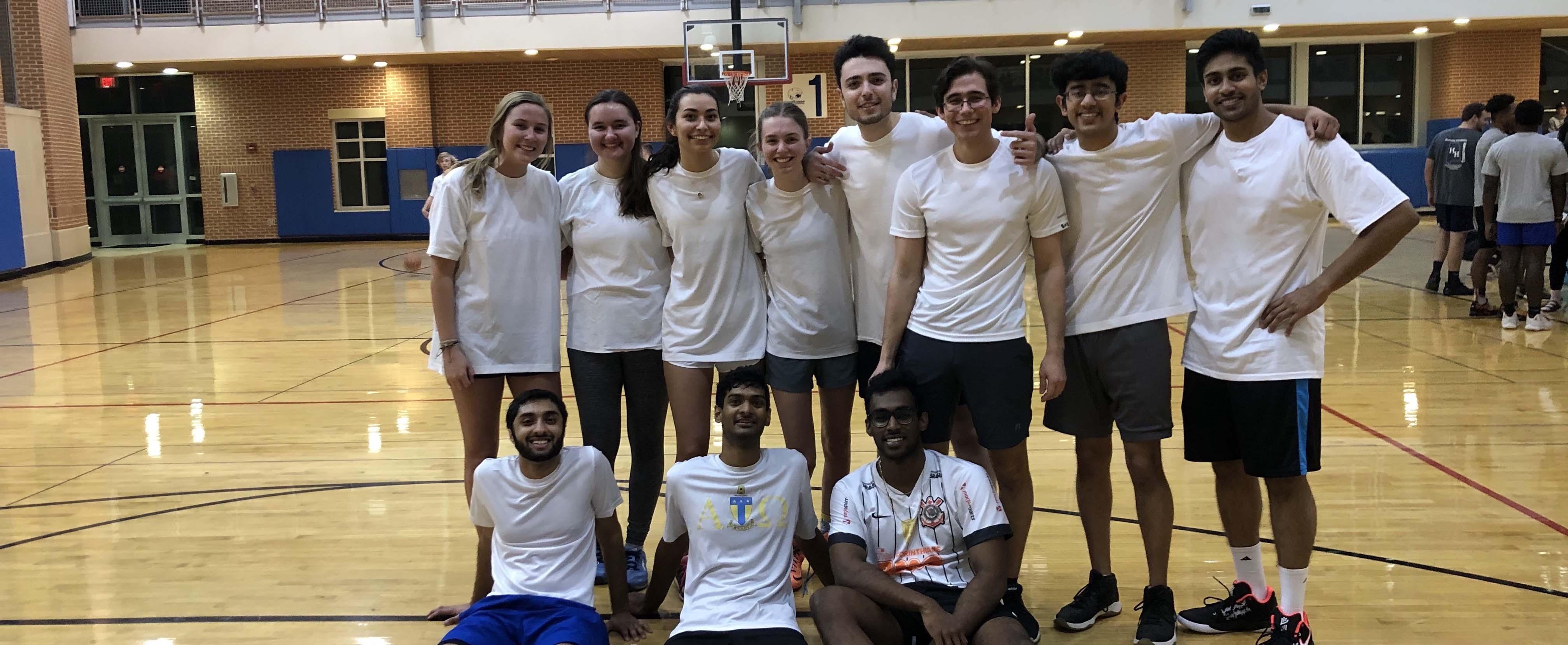 AED 2019-2020 intramural basketball team