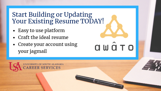 The Awato document creator tool will guide you through an easy to use creation form that uses your previous work experience and the type of job you'll be applying for to craft the ideal resume.