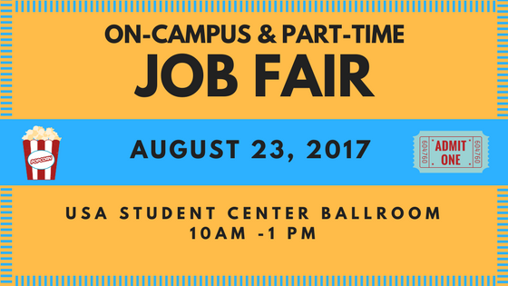 This event features on-campus departments as well as local employers interested in hiring students seeking on-campus or part-time positions.