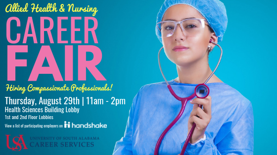 The Allied Health & Nursing Career Fair is an annual event that provides the opportunity for students to network with employers and discuss employment and clinical placements.