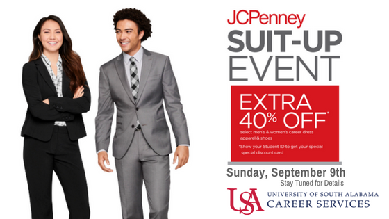 JCPenney Suit Up Event will be Sunday, September 9th.  Stay tuned for details.