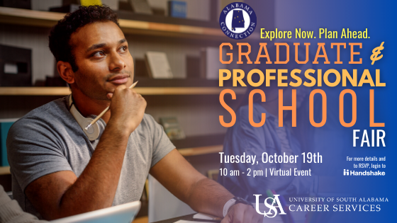 Alabama Connection is an annual statewide graduate and professional school recruiting event where graduate school admissions representatives nationwide are on hand to disseminate information to college students about their respective programs.