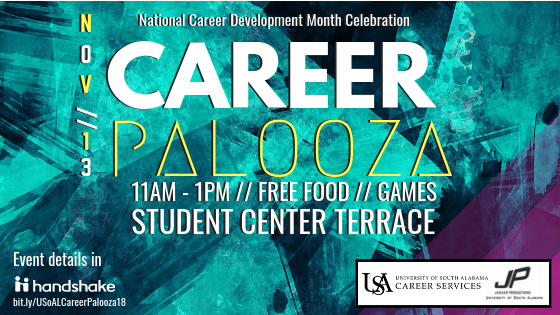 Flyer for PALOOZA scheduled for November 13 11-1 on Student Center Terrace