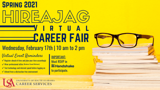 This fair is a university-wide event open to all majors. This career fair provides the opportunity for employers, students, and alumni to network and discuss full-time, co-op, and internship positions.