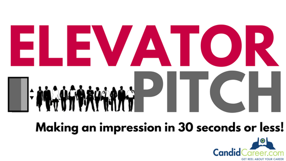 Candid Career video explaining an elevator pitch