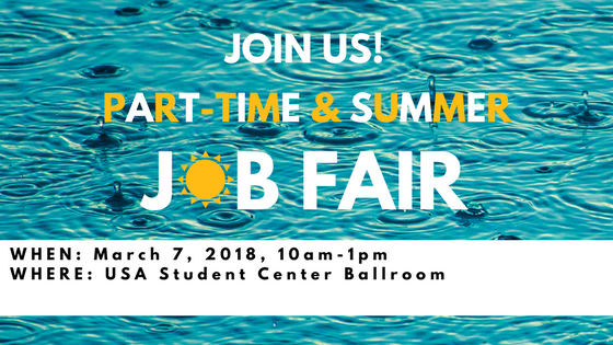 This event features employers interested in hiring students for summer and part-time positions.