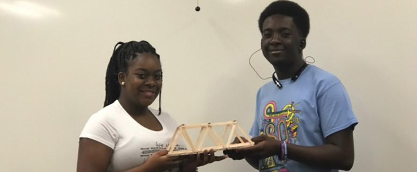 Educational Talent Search: Summer STEM Program: Mobile County Public School System students engage in an enriching STEM environment.