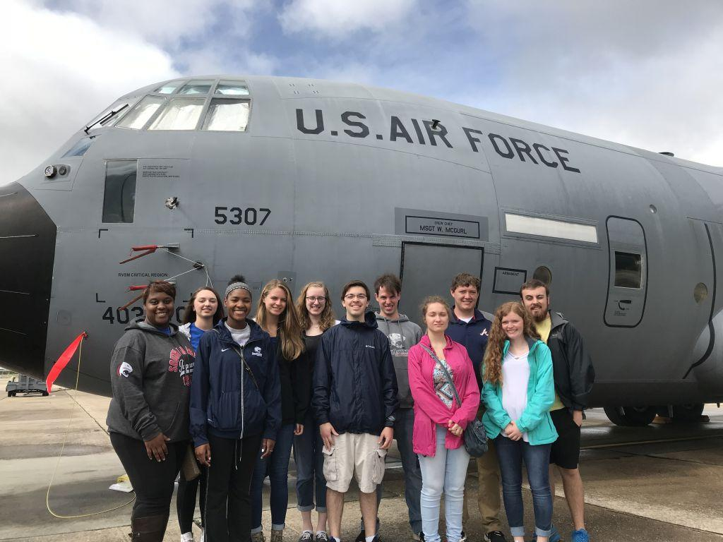 Members of the Meteorology Club took a tour of the Hurricane Hunters facility at Keesler AFB in Biloxi, MS.