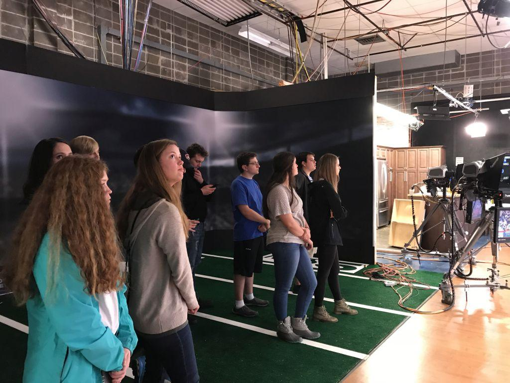 Members of the Meteorology Club took a tour of WKRG in Mobile, AL.