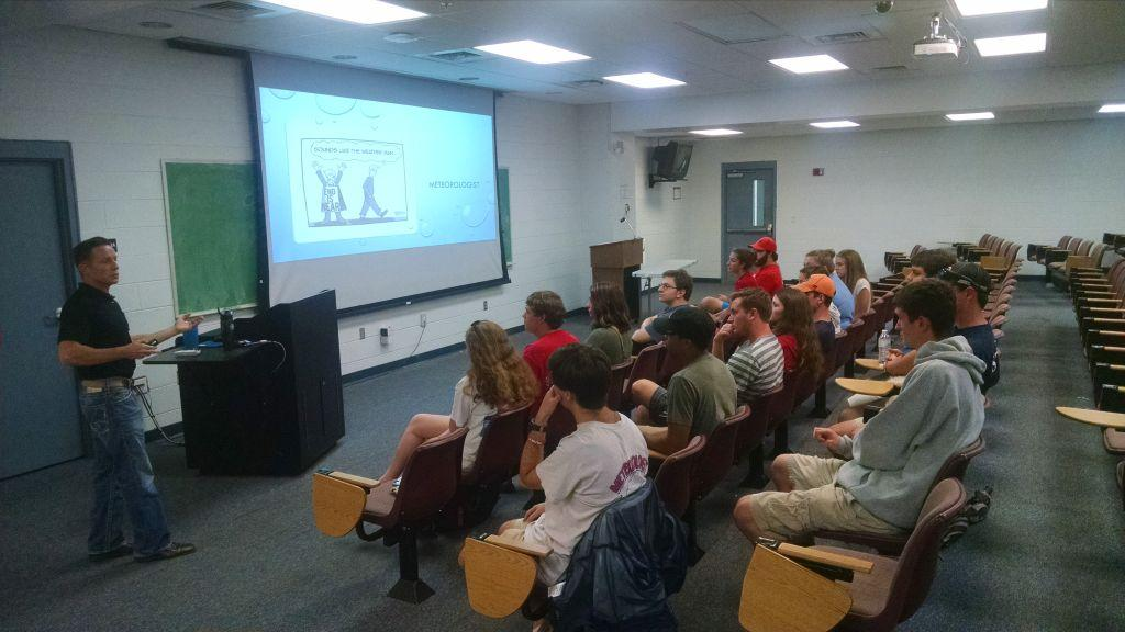 The club's first Weather Wednesday, with Jake Dunne from WPMI in Mobile, AL.