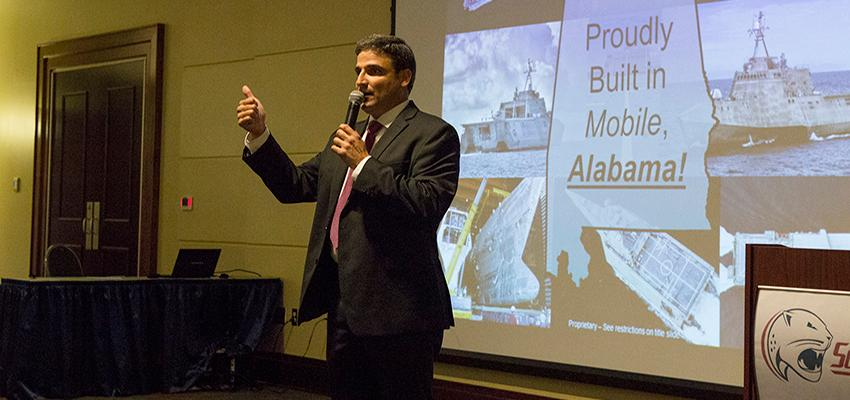 Austal speaking on Partnership with MCOB