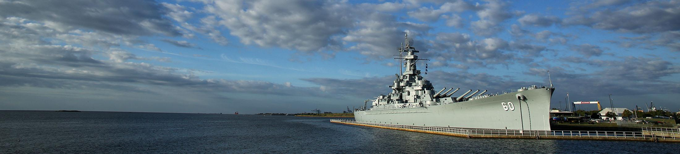 Battleship on the water