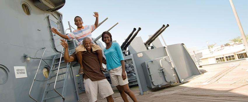 Family at Battleship