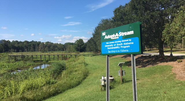 SGA signage for adopt a stream  -- Less Pollution is the Best Solution