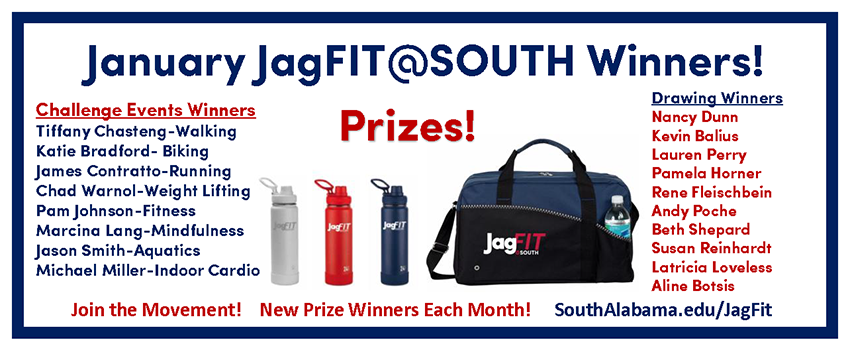 January JagFit Winners Banner links to page with names listed