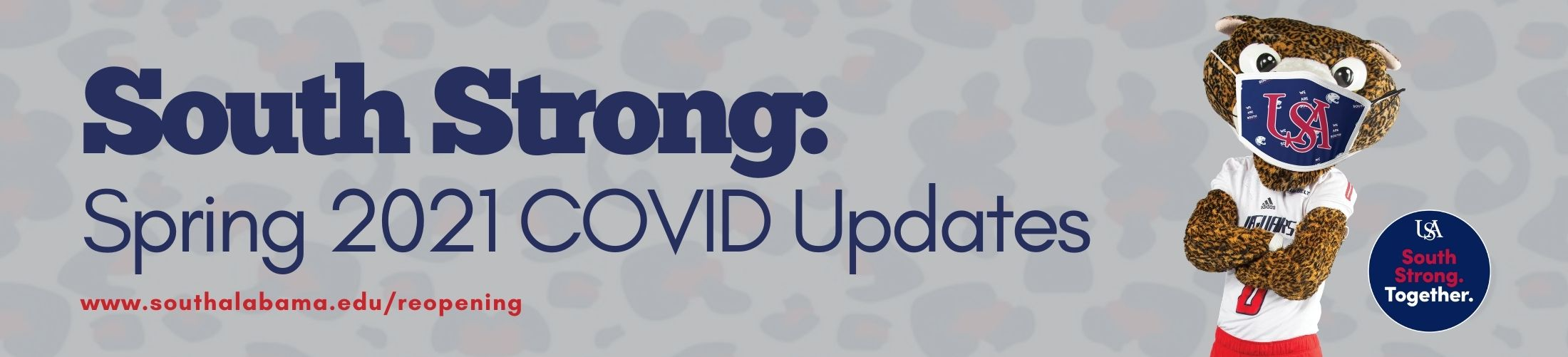 South Strong: Spring 2021 COVID Updates https://www.southalabama.edu/southstrong