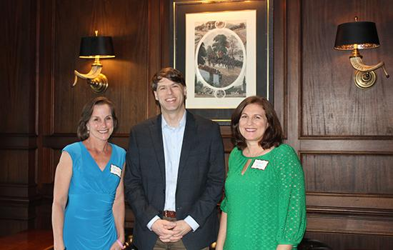 Alumni Society President Doug Porter and Vice President Michelle Barlow with Jennifer Patton