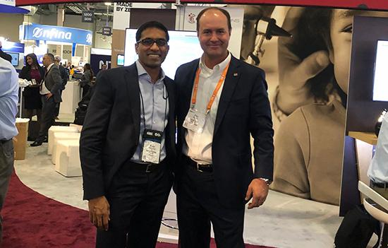 Alums connect at the HIMSS conference in Orlando - Venkat Thumula and Mike Jones