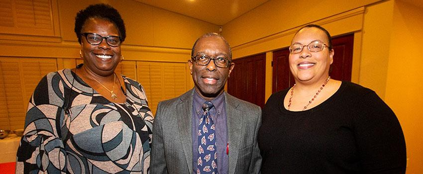Dr. Coleman, Dr. Mitchell, and Dr. Cole at BFSA Event
