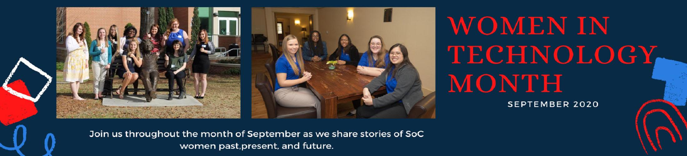 Women in Technology Month September 2020. Join us throughout the month of September as we share stories of SOC women past, present, and future.