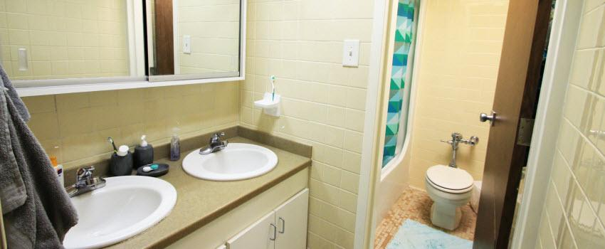 view of Beta Gamma bathroom