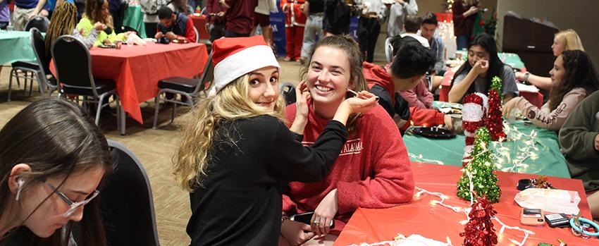 FYC Christmas Party face painting station