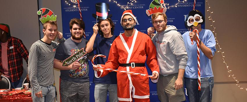 FYC students dress up for the Christmas party
