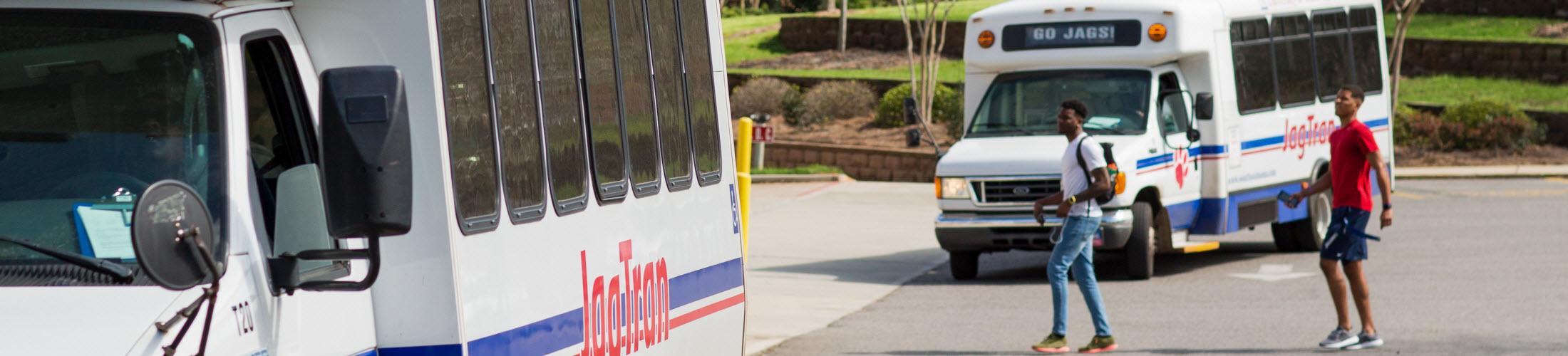 Main Hub for USA JagTran buses