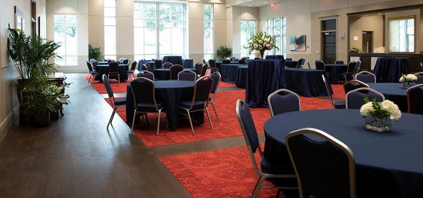 Tables in grand ballroom