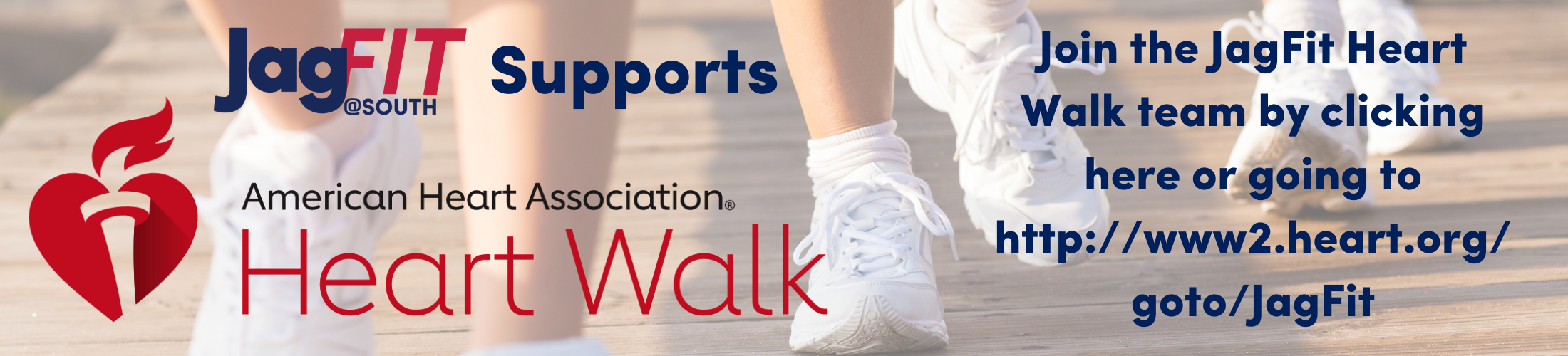 Join the JagFit Heart Walk team by clicking on this image.