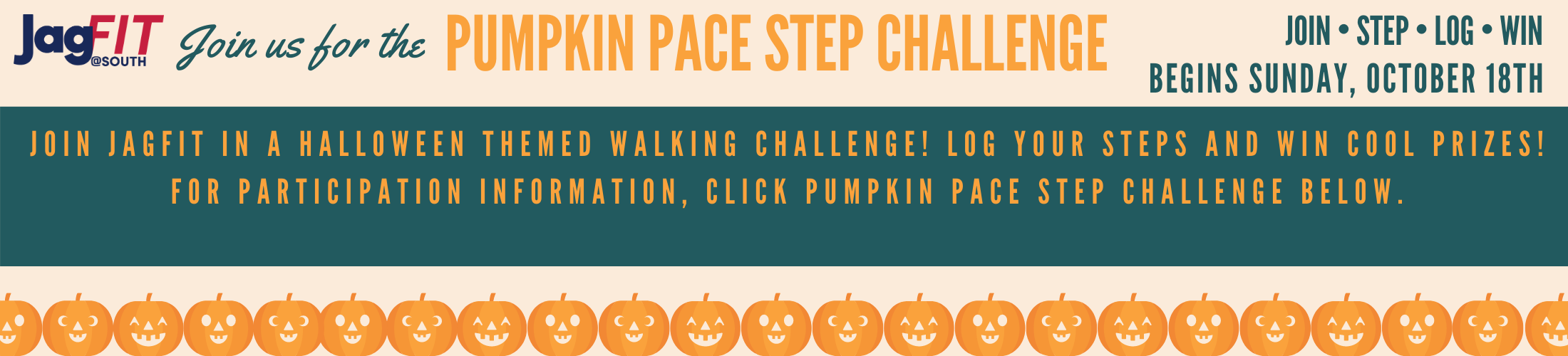 Pumpkin Pace Step Challenge begins October 18th - Themed walking challenge