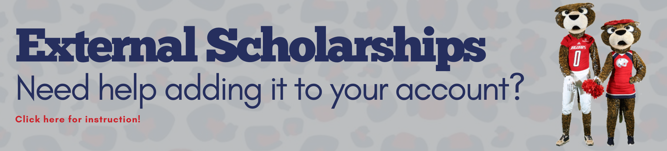 External Scholarships Need help adding it to your account? Click here for instruction!