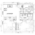 Beta/Gamma 2 Bedroom Apt. for 2 or 4