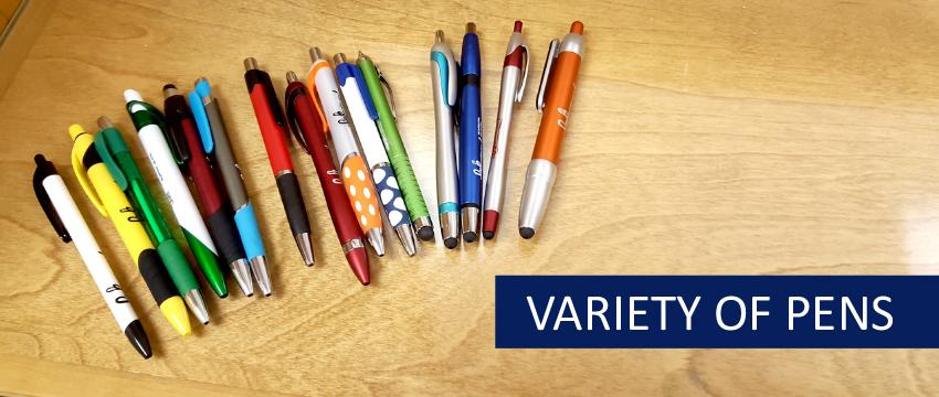 Variety of Pens