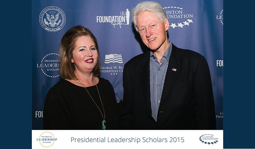 Regina Warner and President Clinton