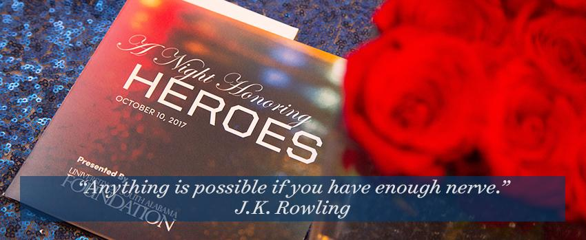 A Night Honoring Heroes Program and Flowers