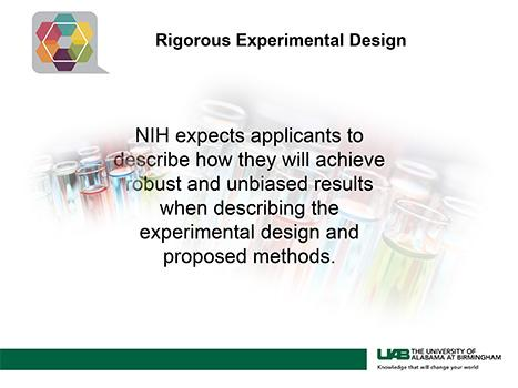 Rigorous Experimental Design