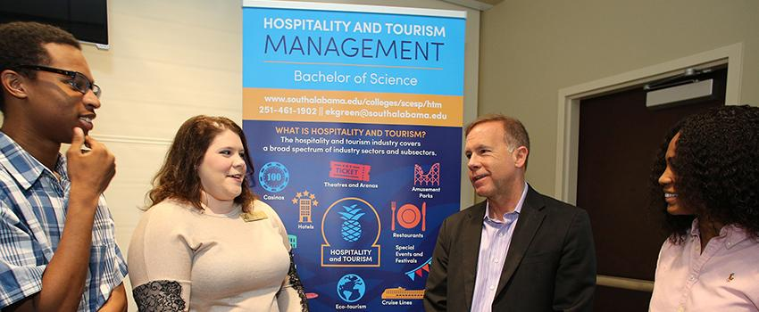Hospitality and Tourism Management Professor and Students