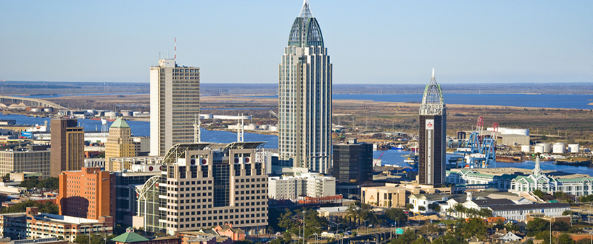 View of Downtown Mobile