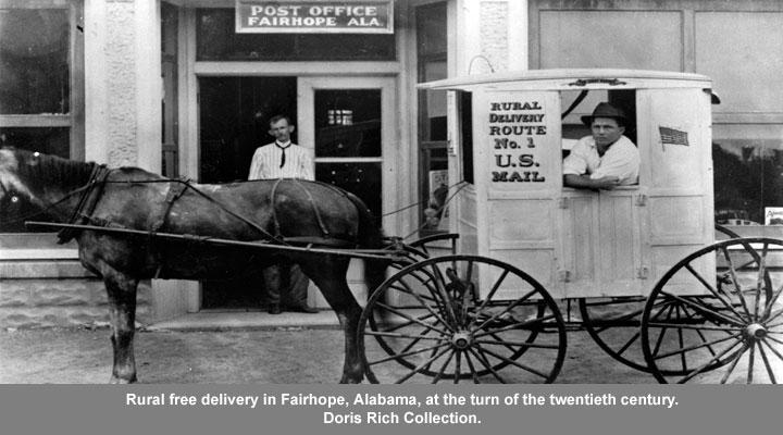 Rural free delivery in Fairhope, AL at the turn of the twentieth century