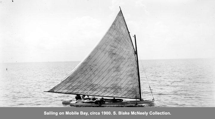 Sailing on Mobile Bay, circa 1900