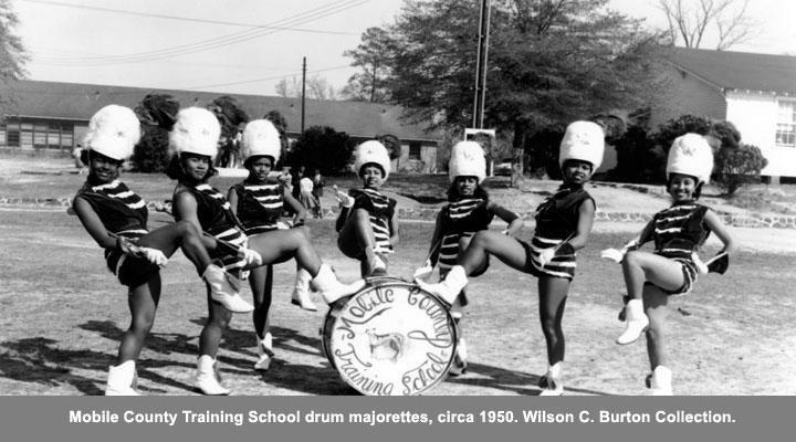 Mobile County Training School Drum Majorettes circa 1950