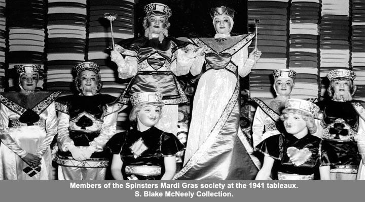 Members of the Spinsters Mardi Gras circa 1941
