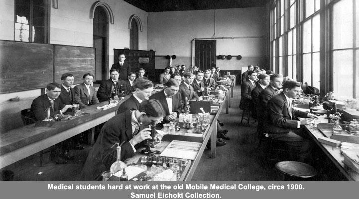 Medical Students at Old Mobile Medical College circa 1900