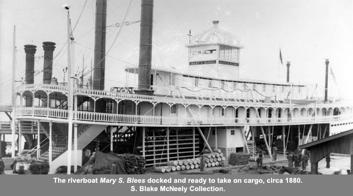 The riverboat Mary S. Blees circa 1880