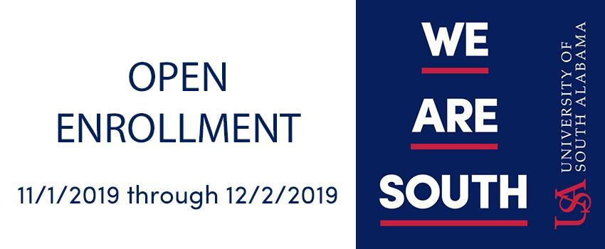 Open Enrollment from 11-1 through 12-2 2019