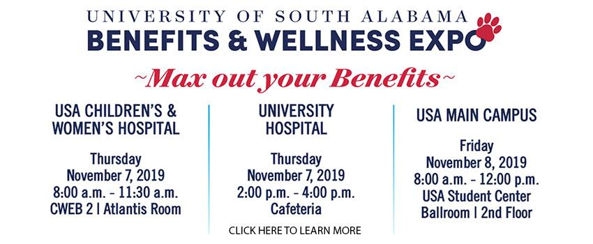 Benefits and Wellness Expo linked to PDF with all informaiton