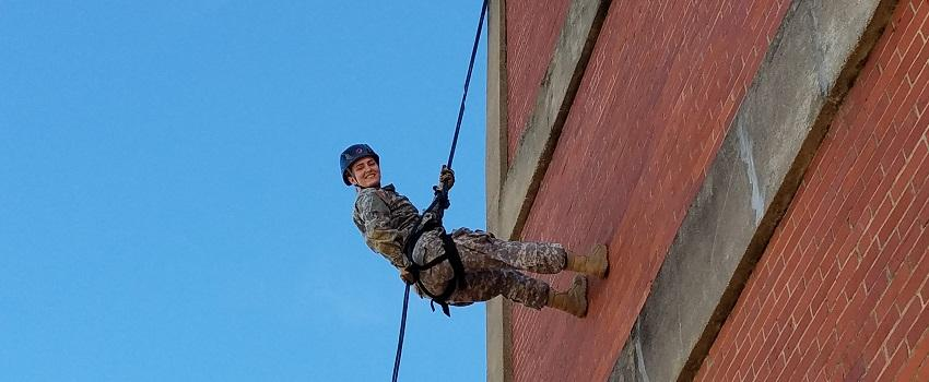 Rappelling exercise