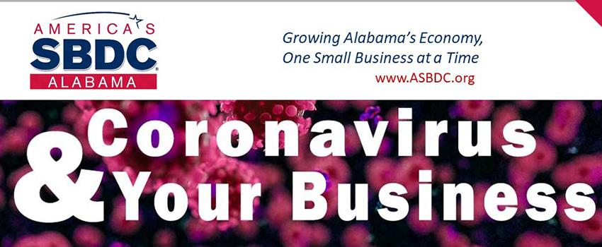 SBDC Coronavirus and Your Business. Linked to SBDC site.
