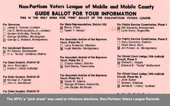 "The NPVL's ""pink sheet"" was used to influence elections."